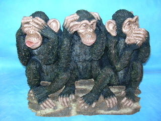 T3054 Three monkeys singing momtion sensor