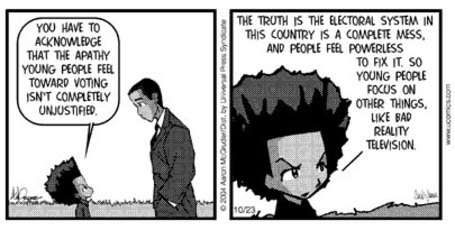 Boondocks on voting